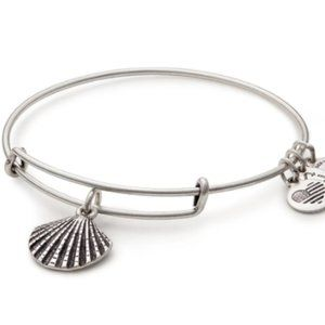 Alex and Ani Sea Shell Charm Bangle Bracelet